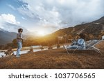 wide angle view of the group of ... | Shutterstock . vector #1037706565