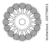 decorative colorless mandala | Shutterstock .eps vector #1037708011