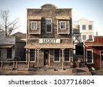 rustic western town sheriff's... | Shutterstock . vector #1037716804