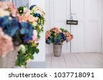 the plate is welcome at the... | Shutterstock . vector #1037718091