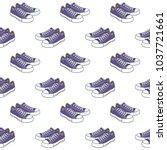 shoes pattern on white... | Shutterstock .eps vector #1037721661