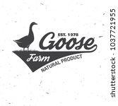 goose farm badge or label.... | Shutterstock .eps vector #1037721955