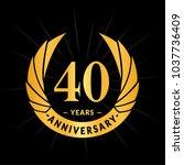 40 years anniversary. elegant... | Shutterstock .eps vector #1037736409