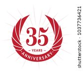 35 years anniversary. elegant...   Shutterstock .eps vector #1037736421
