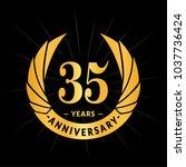 35 years anniversary. elegant...   Shutterstock .eps vector #1037736424