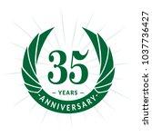 35 years anniversary. elegant... | Shutterstock .eps vector #1037736427
