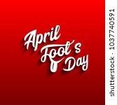 illustration april fools day | Shutterstock .eps vector #1037740591
