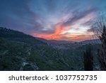 mystical sunset over the...   Shutterstock . vector #1037752735