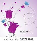 floral background invitation... | Shutterstock .eps vector #103775747