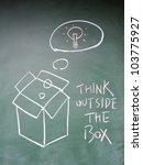 think outside the box symbol   Shutterstock . vector #103775927