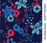 floral pattern vector... | Shutterstock .eps vector #1037762401