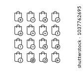 handbag icons set   Shutterstock .eps vector #1037762695