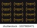 movie award best short animated ... | Shutterstock .eps vector #1037800471