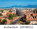Ariel View Of The Colosseum In...
