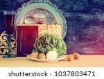 pesah celebration concept ... | Shutterstock . vector #1037803471
