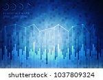 2d rendering stock market... | Shutterstock . vector #1037809324
