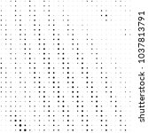 grunge halftone black and white ... | Shutterstock . vector #1037813791
