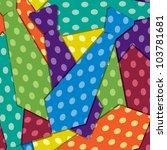 Sticker tie card in vector format. - stock vector