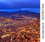 night view of la paz  bolivia | Shutterstock . vector #1037817541
