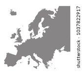 vector illustration of europe... | Shutterstock .eps vector #1037822917