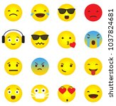 emoji icon collection with... | Shutterstock .eps vector #1037824681