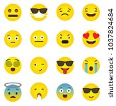 emoji icon collection with... | Shutterstock .eps vector #1037824684