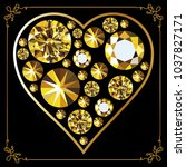 heart with diamonds concept of...   Shutterstock .eps vector #1037827171