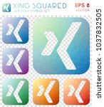 xing squared geometric... | Shutterstock .eps vector #1037832505
