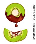 chocolate kiwi | Shutterstock .eps vector #103783289