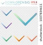 down open big geometric... | Shutterstock .eps vector #1037834611
