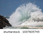 Small photo of Ocean Backwash waves