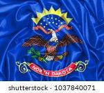 usa states set  3d waving flag... | Shutterstock . vector #1037840071