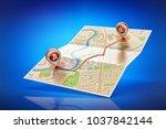 travel destination  cartography ... | Shutterstock . vector #1037842144