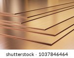 copper sheets. rolled metal... | Shutterstock . vector #1037846464
