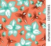 flowers   seamless pattern | Shutterstock .eps vector #103785881