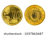 front and back ten cent   malts ... | Shutterstock . vector #1037863687