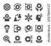 knowledge icon set | Shutterstock .eps vector #1037864137