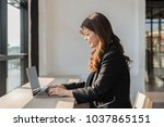 business documents on office...   Shutterstock . vector #1037865151