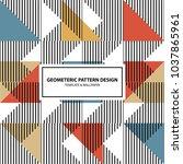 pattern diagonal lines vector... | Shutterstock .eps vector #1037865961