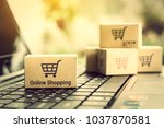 online shopping   ecommerce and ... | Shutterstock . vector #1037870581