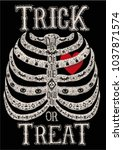 trick or treat halloween party  ... | Shutterstock .eps vector #1037871574
