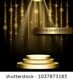 business presentation podium of ... | Shutterstock .eps vector #1037873185