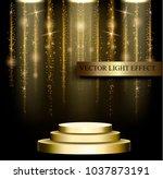business presentation podium of ... | Shutterstock .eps vector #1037873191