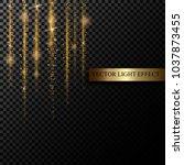 sparkle stardust. golden... | Shutterstock .eps vector #1037873455
