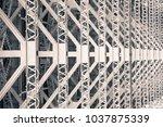 patterns beneath harbour bridge ...   Shutterstock . vector #1037875339
