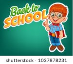 genius student for back to... | Shutterstock .eps vector #1037878231