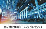 industrial zone  steel... | Shutterstock . vector #1037879071
