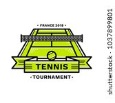 tennis tournament emblem ... | Shutterstock .eps vector #1037899801