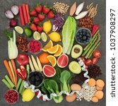health food for dieting concept ... | Shutterstock . vector #1037908297