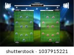 football or soccer playing... | Shutterstock .eps vector #1037915221